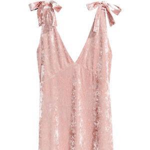 Dusty Rose Crushed Velvet Dress